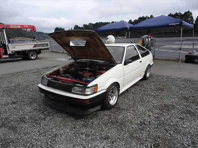 Toyota AE-86 drift car at Fuji Speedway. Drift car export from Japan Japan Car Direct