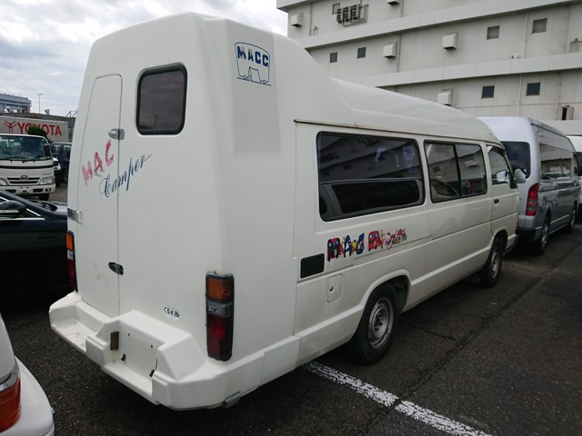 Hiace camper from Japan with toilet and shower addition