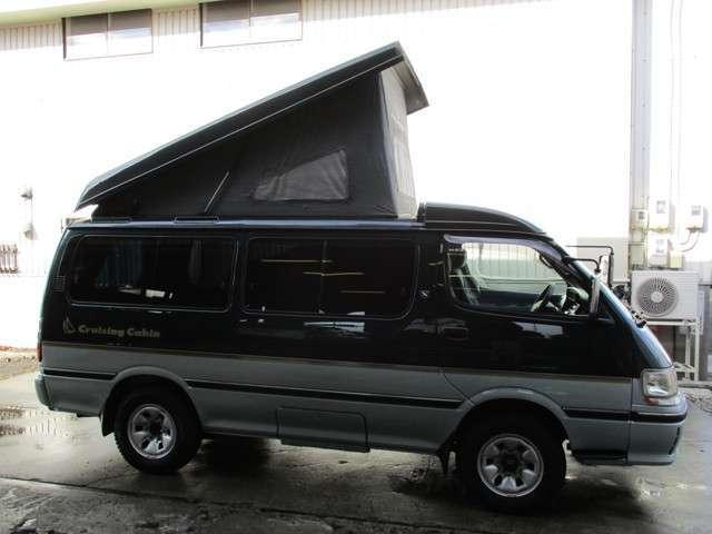 Toyota Hiace Wagon Camper Van Conversion in Japan with pop top