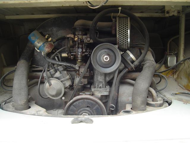 VW Type-2 first series for sale and export from Japan. Engine Bay